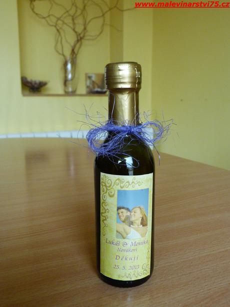 Svatební víno,svatební mini víno,svatební čokoláda,