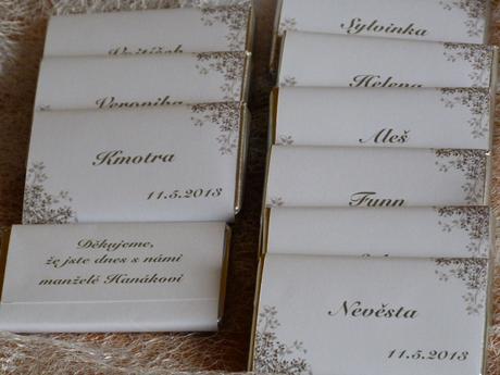 Svatební víno, svatební minivíno, svatební čokolád,