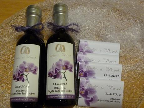 Svatební víno, svatební minivíno,svatební čokoláda,