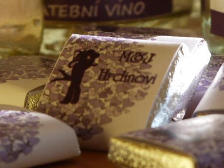 Ucelená kolekce- svatební víno a svatební čokoláda,