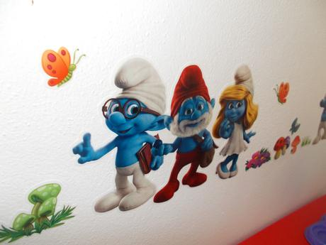 Šmolko 3D nálepky na stenu-nepouzite,