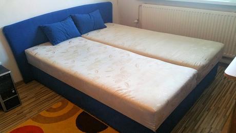 Manželská posteľ s úložným priestorom,