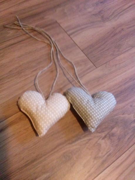 Textilné srdiečka,