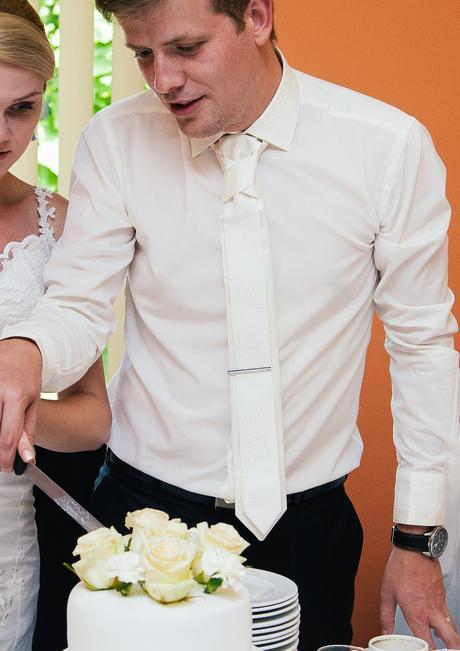 Svatební košile s kravatou vel.M, ivory, 40