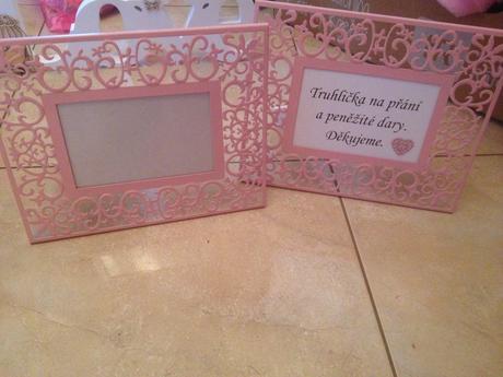 Krabička na přání a rámečky na popisky,