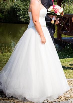 Princeznovské svatební šaty Ivory vel. 40-42, 40