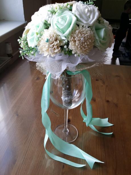 Svatební kytice mátová,