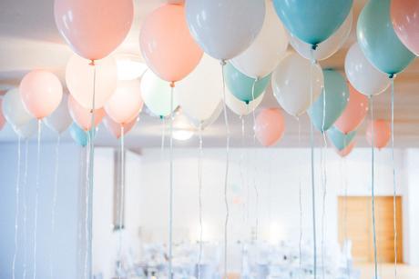 Balónky - růžová/mint/bílá,