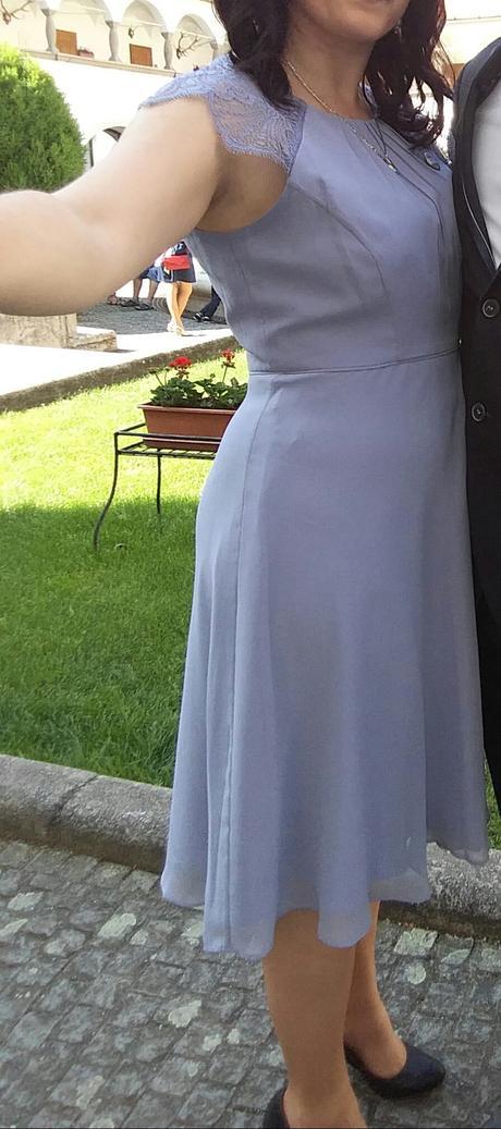 Šaty šedej farby, 40