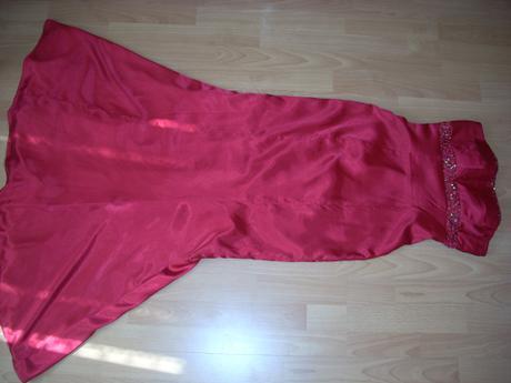 dlhé červené šaty, veľ. 38/40,  výpredaj, 38