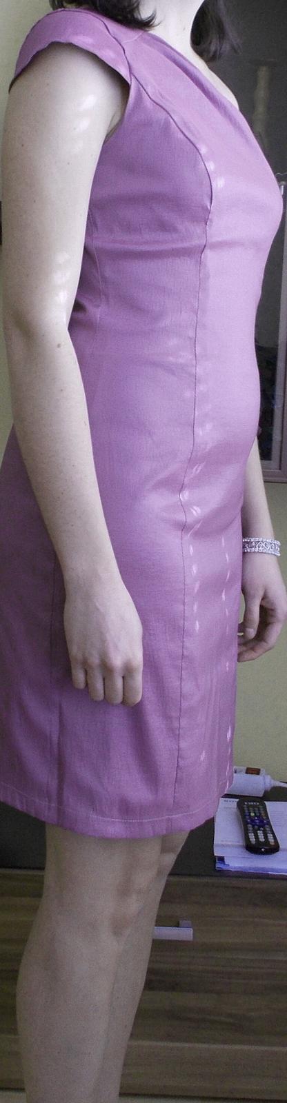 krátke svetlofialové šaty, veľ.40, 40