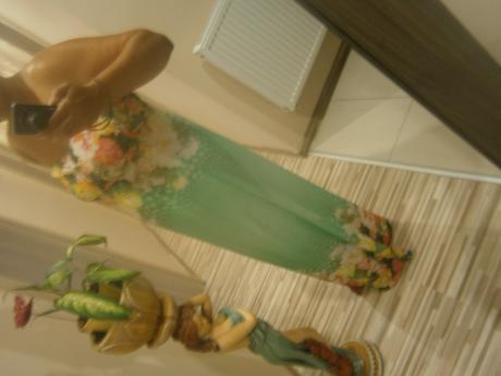 letne kvetovane šaty, XL