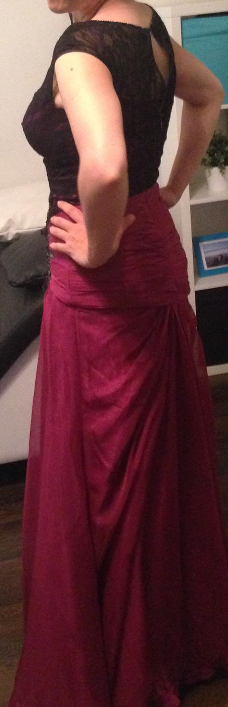 Spoločenské šifónové šaty eDressit cyklamenove, 38