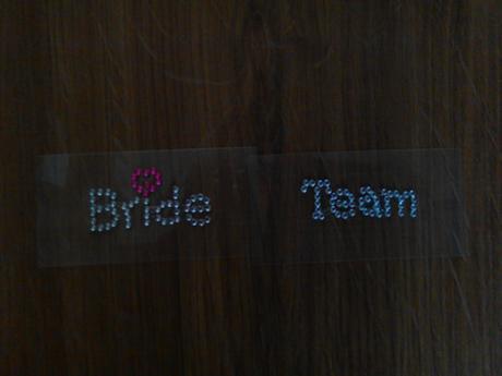 """Samolepka na boty """"Bride Team"""","""