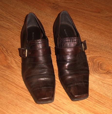 kožené botky Roberto Santi, 38