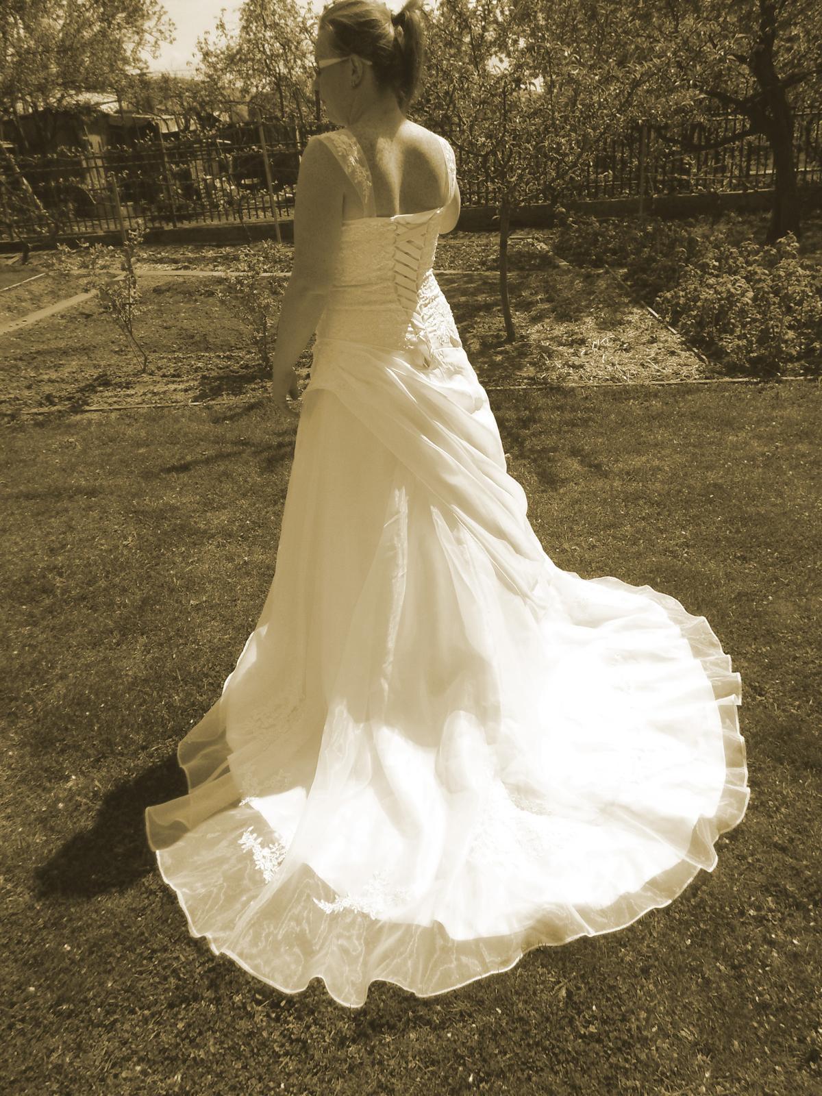 64a33af1f3b0 Svadobné šaty veľkosť 44 - 46