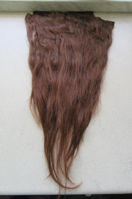 Clip-in prave vlasy, hnědá,