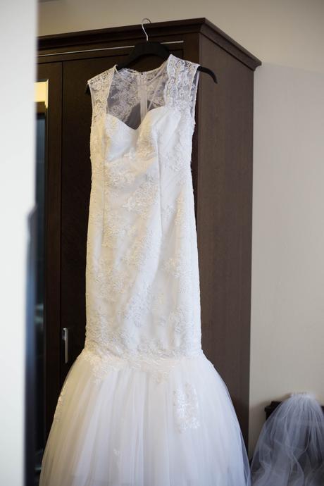 Krajkové šaty ala mořská panna, 36
