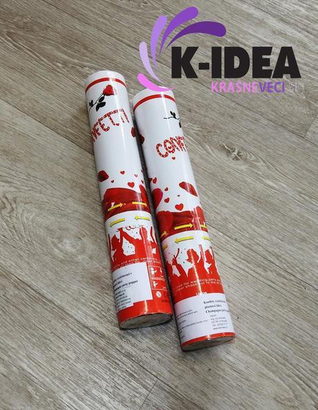 Vystrelovacie konfety - BIELE,