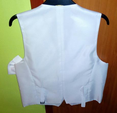 Pánska biela svadobná vesta, 46