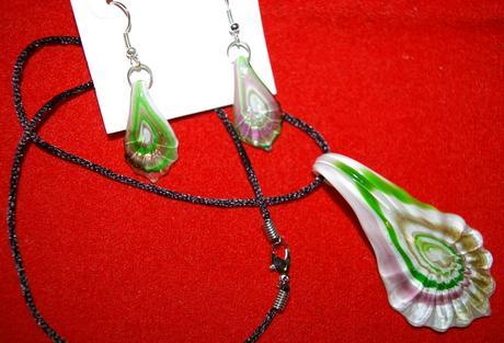Nádherný set z Benátskeho skla - nepoužitý,