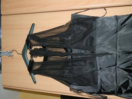 Čierno strieborne koktejlove šaty, 42