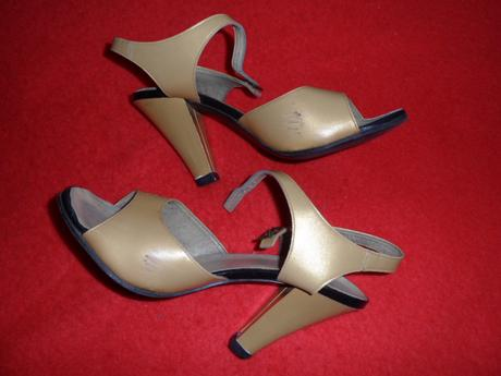 Zlate sandalky, 38