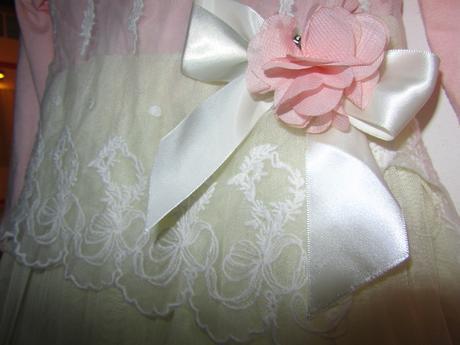 Šaty pro družičku-dlouhý rukáv +čelenka zdrama, 98