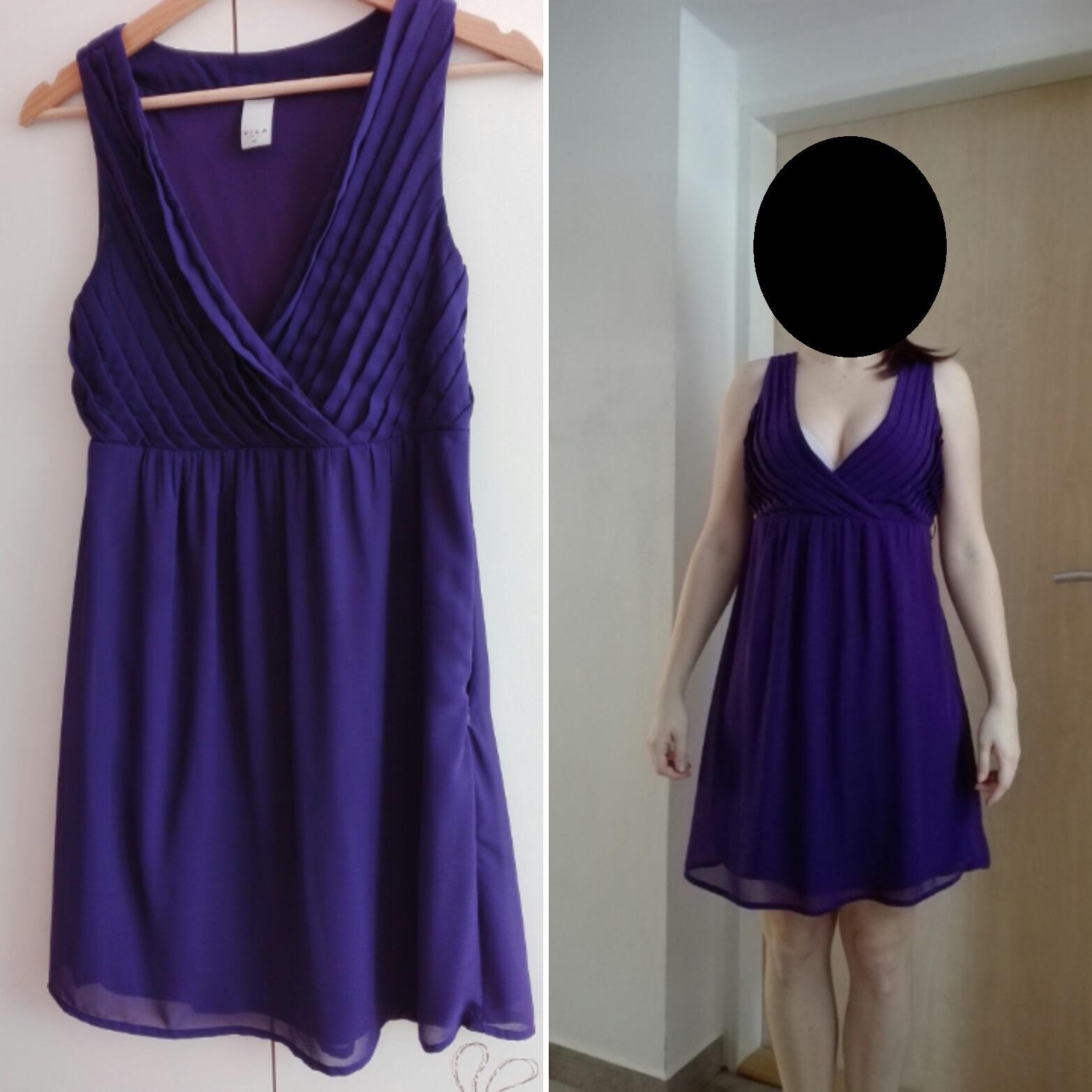 f51007b73c6 Fialové šaty pro svědkyni
