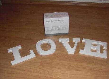 Písmena LOVE,