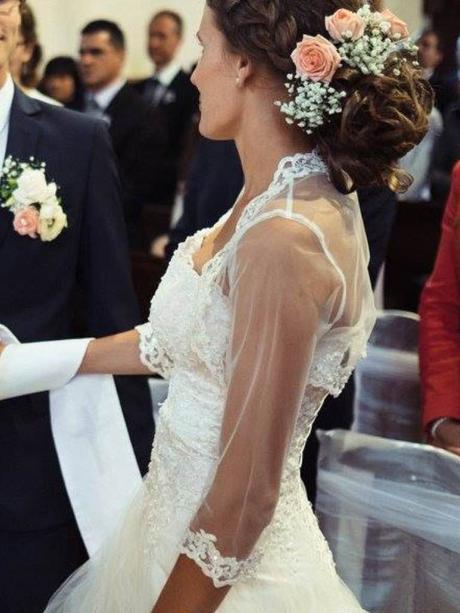 svadobné šaty a moznost dokupit bolerko site k nim, 36