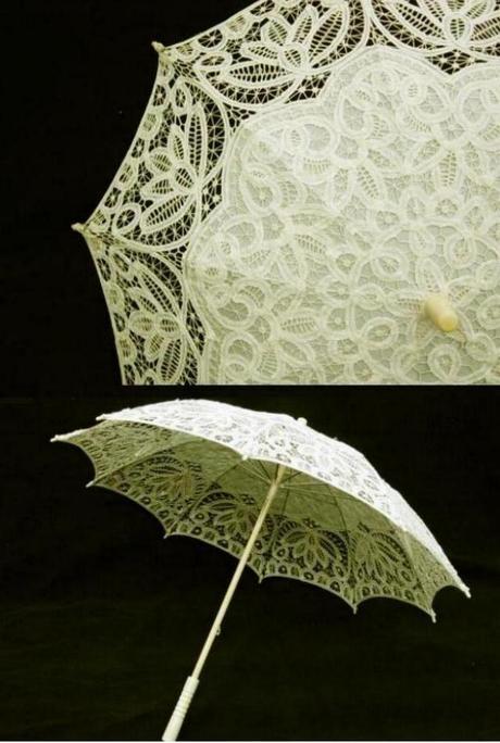 Svadobný vejár a dáždnik,