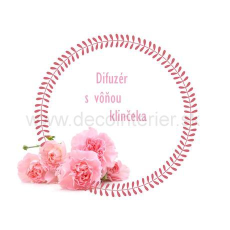Bytový difuzér Carnation, Rose, Gardenia,