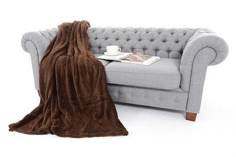 jednofarebné teplé deky,