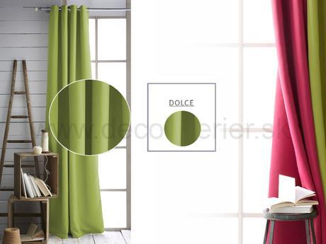 Jednofarebný dekoračný záves DOLCE ,
