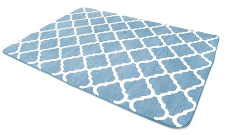 Modrý koberec Clover,