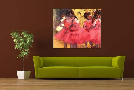 Obraz - reprodukcia Edgar Degas The Pink Dancers,