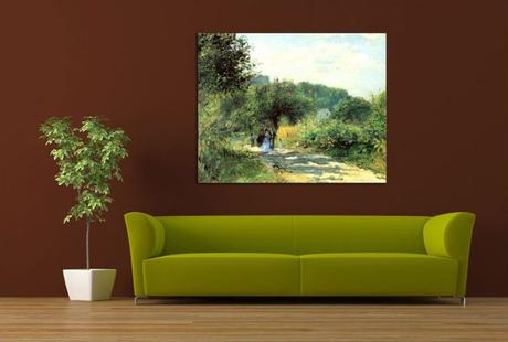 Obraz - reprodukcia MONET - The House at Giverny ,