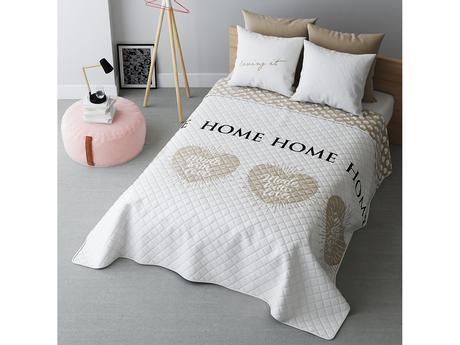 Prehoz na posteľ With love beige 220x240 cm,