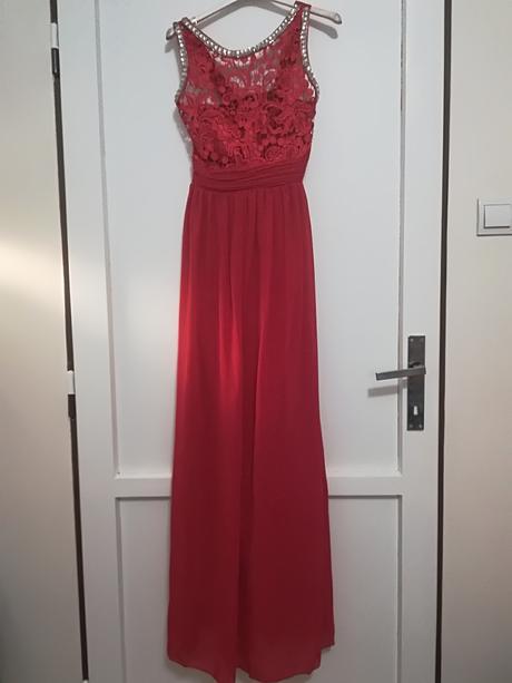 Spoločenské šaty dlhé červené, S