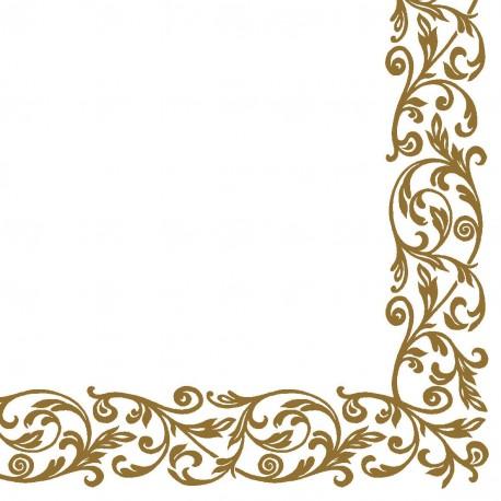 Servítky bielo-zlaté,