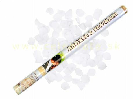 Vystreľovacie konfety, 80cm,lupene rôzne farby,