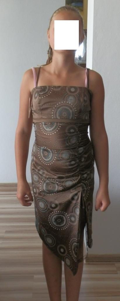 hnedé šaty, 36