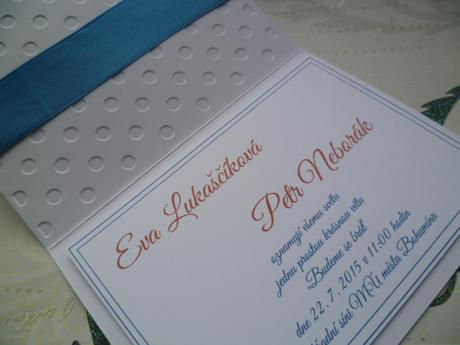 námořnické svatební oznámení ,