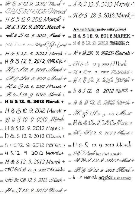 Svatební s iniciály s datem větší. Omyv. razítko,