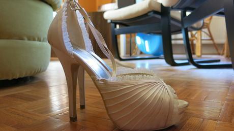 Luxusní saténové sandálky s podpatky na platformě, 38