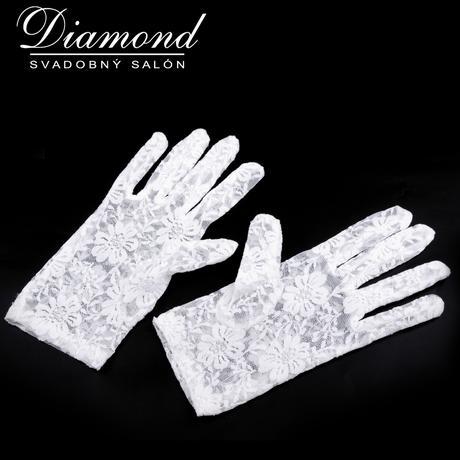 Biele čipkované rukavičky,