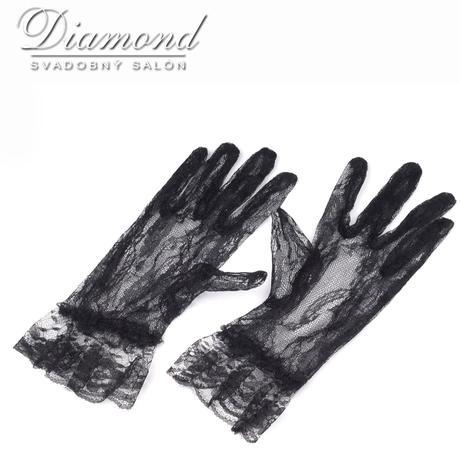 Spoločenské čipkované rukavičky,