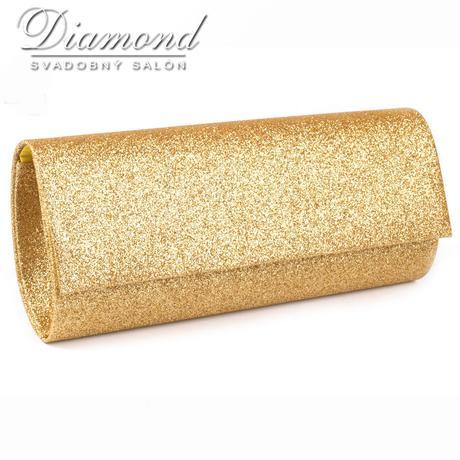 Zlatá glitrová listová kabelka,