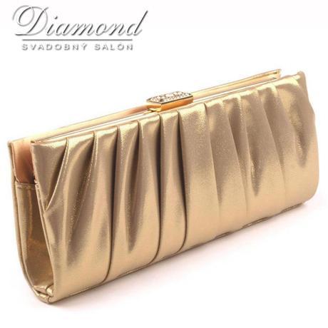 Zlatá listová kabelka FELICITY,